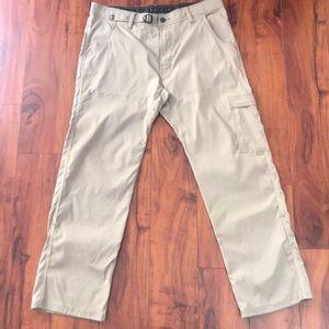 Prana Stretch Zion Pants Hiking Tavel 36/30 Brown